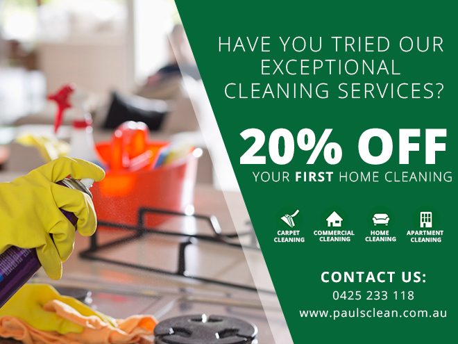 Pauls Clean King Home cleaning Promo